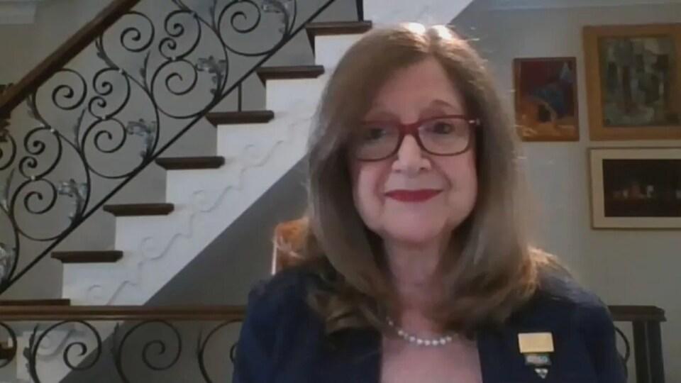 Doris Grinspun lors d'une entrevue en vidéoconférence.