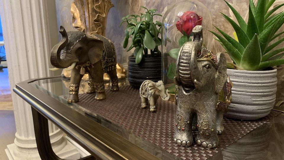 Éléphants de la collection de Jacinthe Laquerre, de Nicolet.