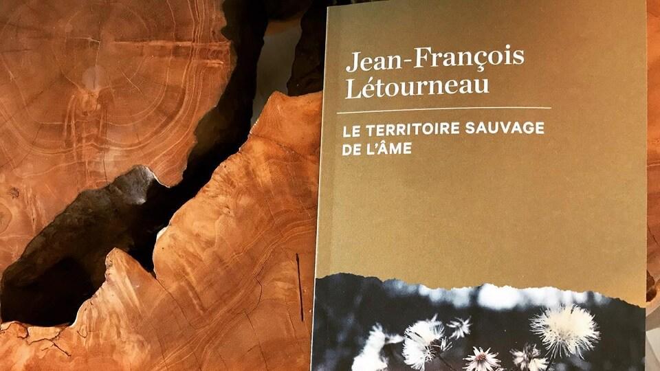 La page couverture du livre « Le territoire sauvage de l'âme » est ornée d'une photo de fleurs sauvages.