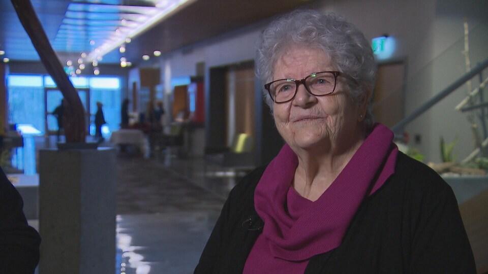 Lise Roy est ambassadrice de la Société Alzheimer de l'Estrie pour sa campagne de sensibilisation