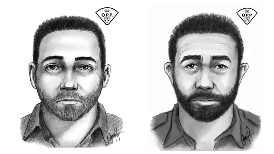 Deux portraits-robots d'hommes.