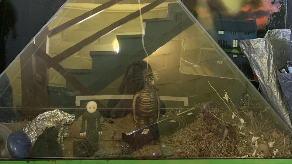 Des vestiges de la passion de l'astronome amateur Jean-Guy Veillette se trouvent dans l'observatoire en forme de hibou, à Saint-Tite.
