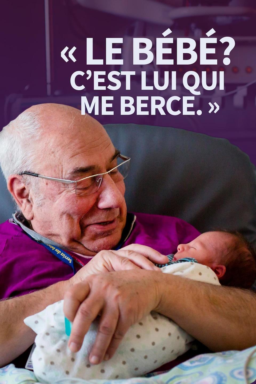 « Le bébé? C'est lui qui me berce. »
