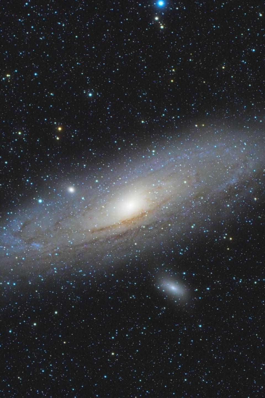 La galaxie d'Andromède.