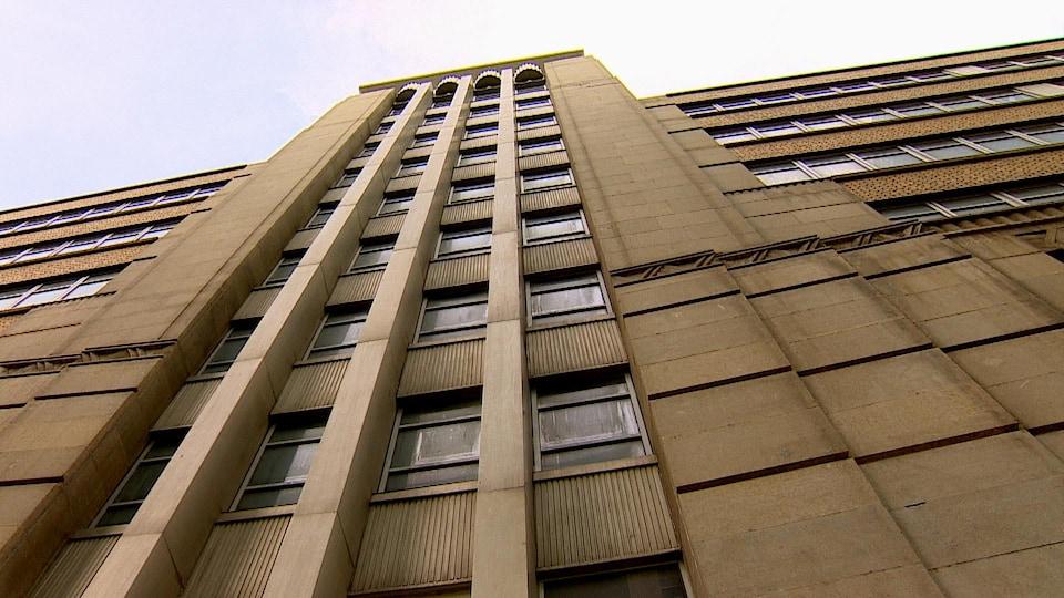 La façade d'un immeuble.