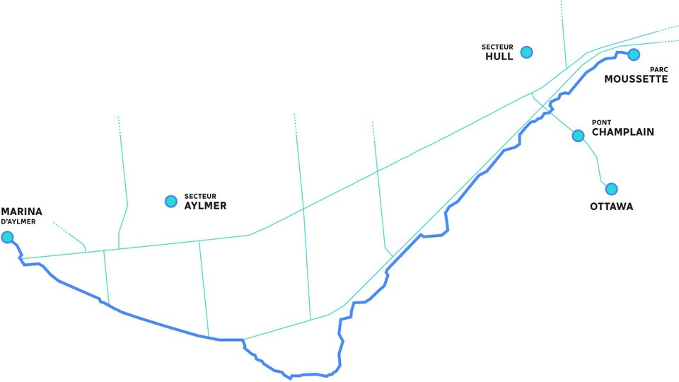 Une carte du sentier des Voyageurs.