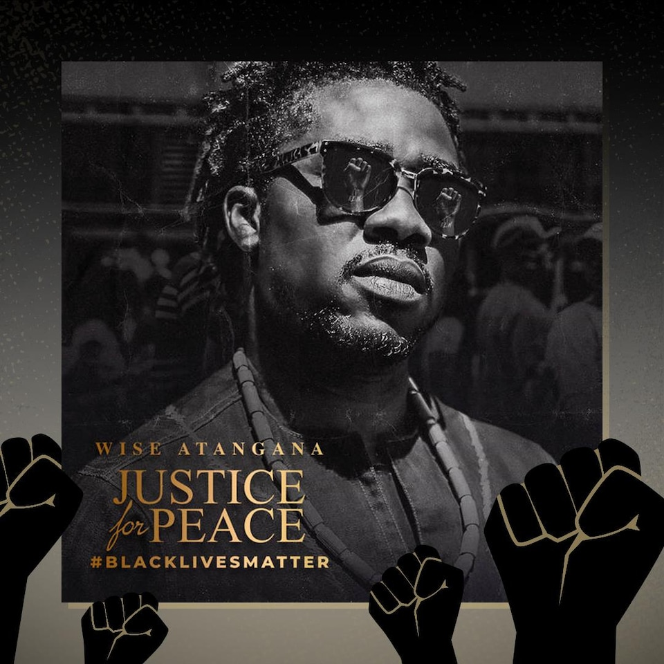 La pochette de l'album « Justice For Peace » de Wise Atangana.