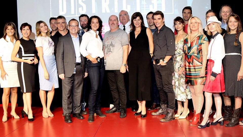 Toute la production de District 31 (comédiens, producteur, réalisateur).