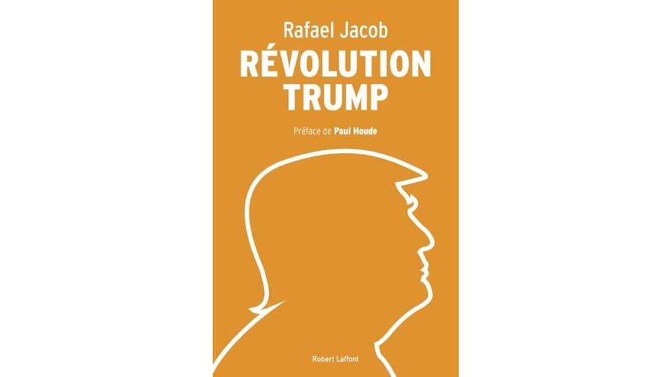Un dessin de Donald Trump de profil.