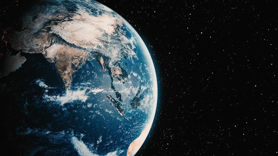 Illustration artistique de la planète Terre.