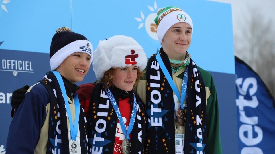 Simon Thivierge a remporté l'or à l'épreuve de vitesse en Biathlon