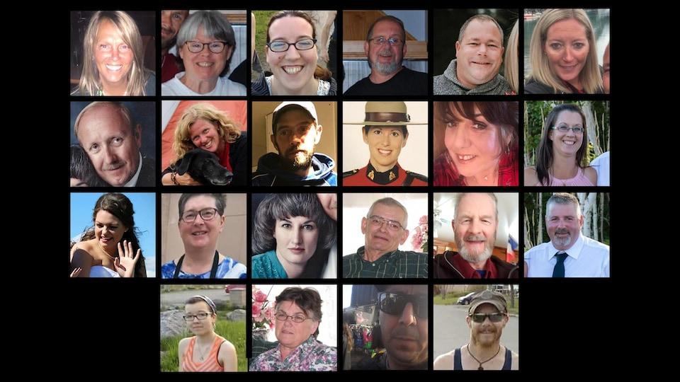 Montage photographique des 22 personnes.