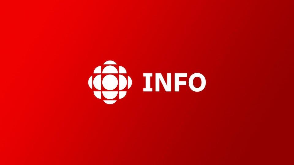Le mot «info» accompagné du logo de Radio-Canada.