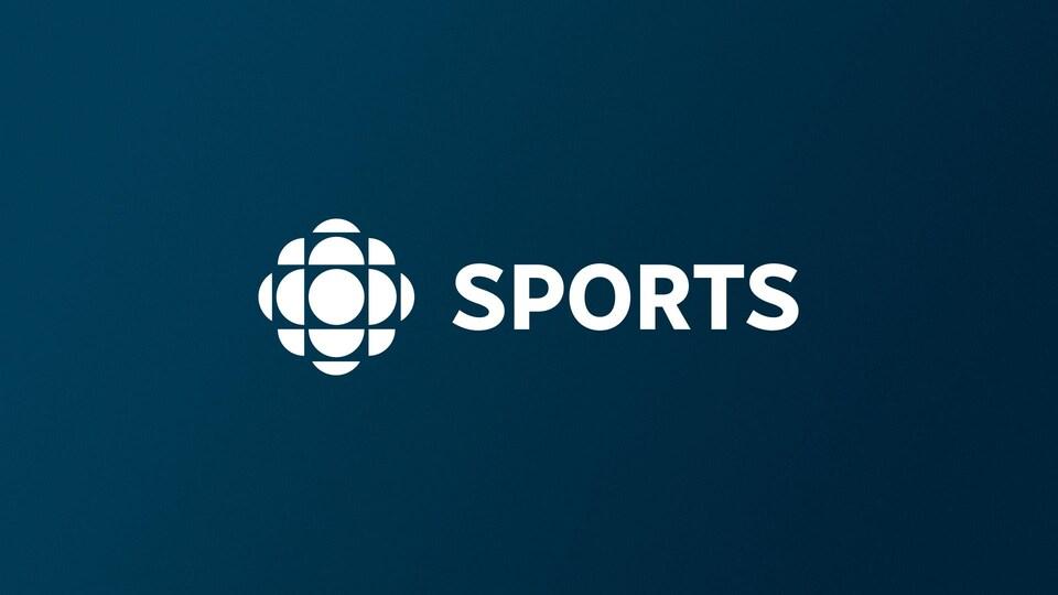 Le mot «sports» accompagné du logo de Radio-Canada.