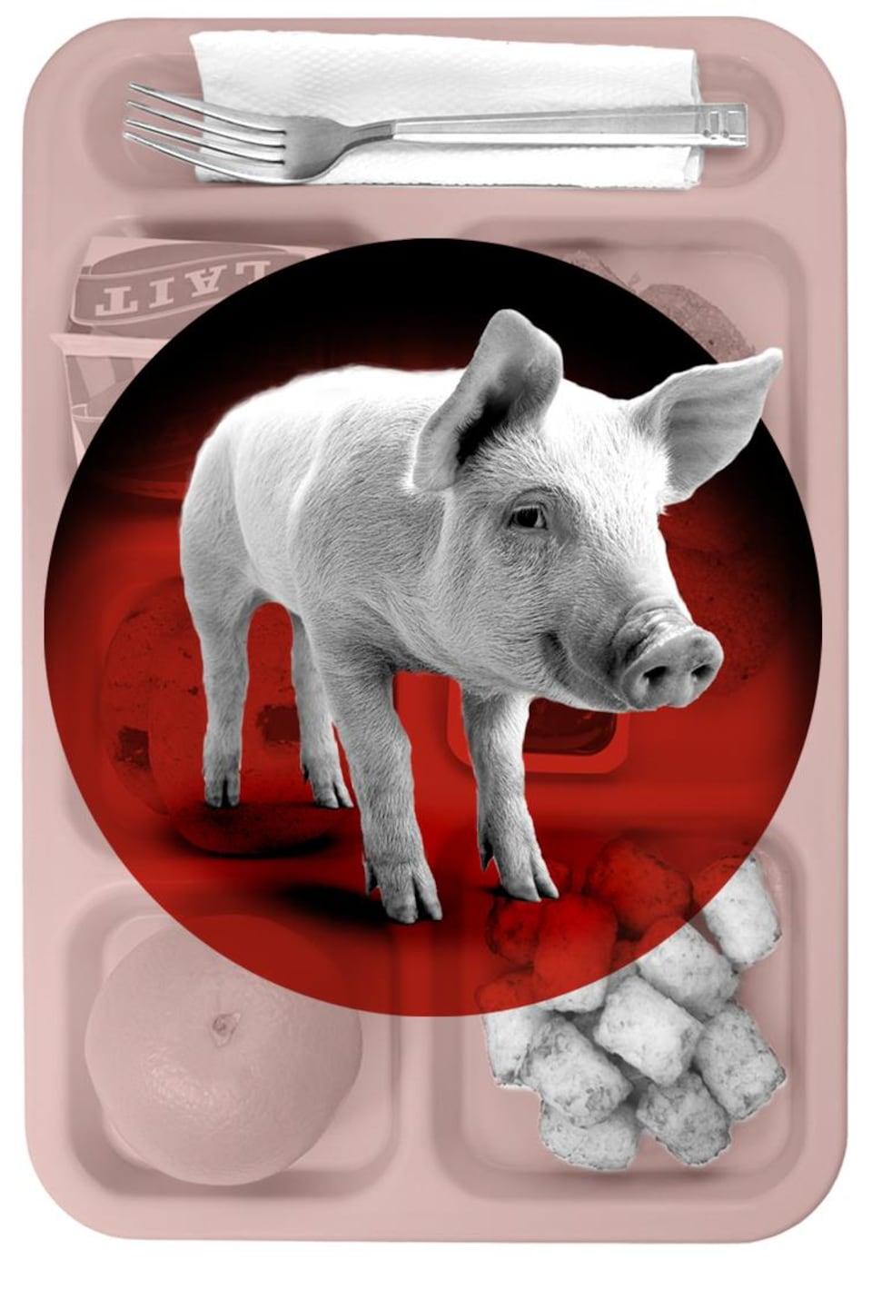 Le maire de Dorval n'a pas banni le porc des cantines scolaires, malgré ce qui circule sur Facebook depuis quatre ans.
