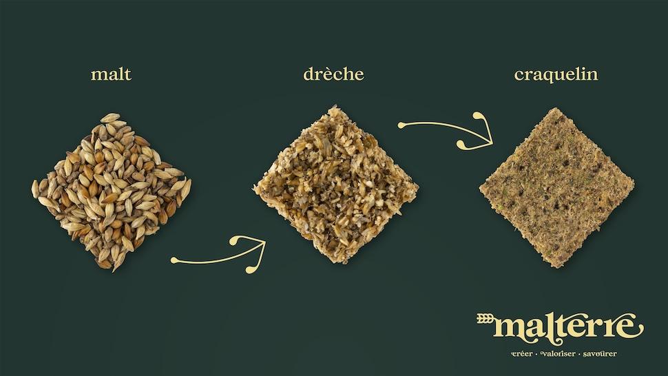 Visualisation de l'évolution des ingrédients qui forment le craquelin.