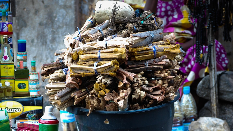 Paniers de produits vendus dans les marchés sénégalais.
