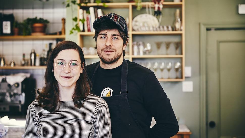 Les propriétaires du restaurant Moccione dans Villeray.