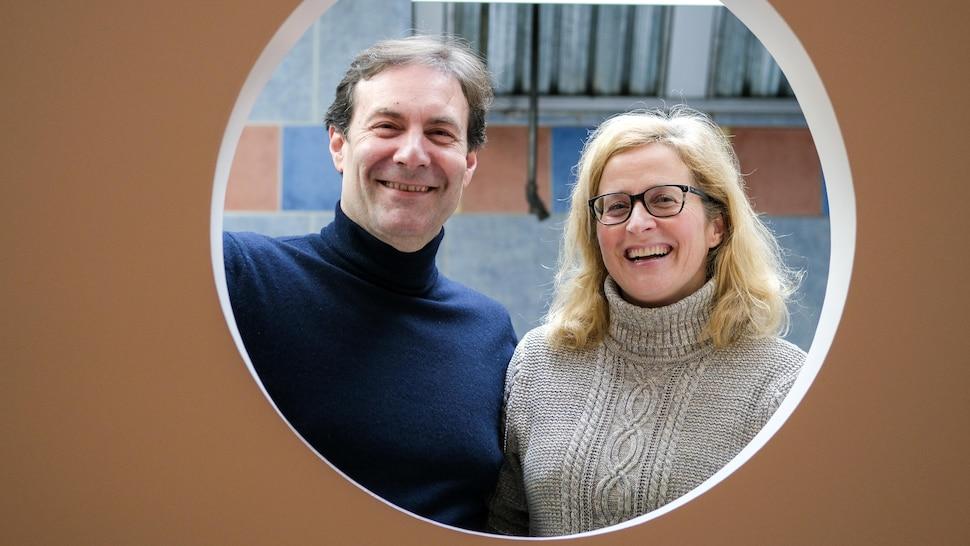 Les propriétaires du comptoir La Piadina, Claudio Bettiga et Sophie Bernier.