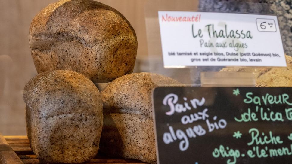 Le pain aux algues de la boulangerie Paingrüel.