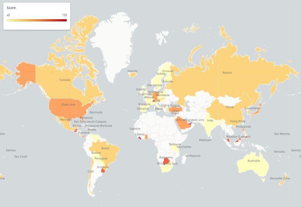 Carte Australie Canada.Avec Quels Paradis Fiscaux Le Canada A T Il Des Accords La