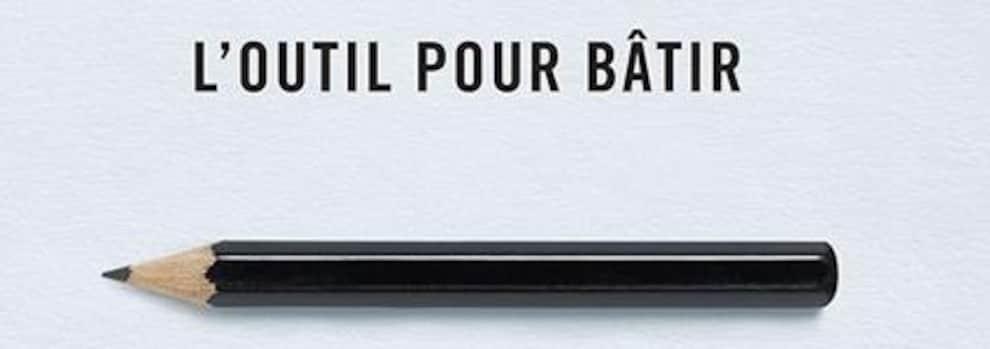 La campagne «L'outil pour bâtir» présente le crayon de plomb comme un outil à tout faire pour sensibiliser les électeurs à l'importance du vote.