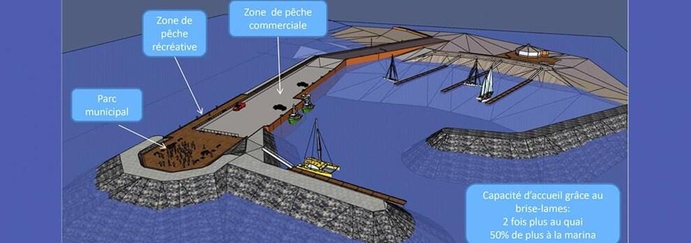 Esquisse du projet du quai en 3D