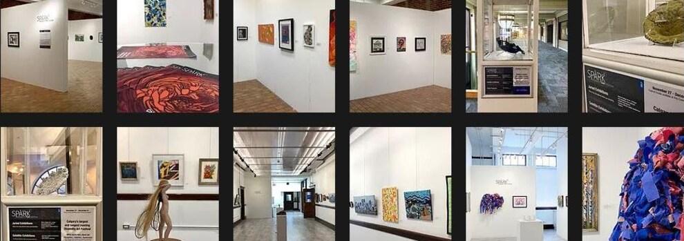 Plusieurs photos dans un encadré montrent des oeuvres d'art.