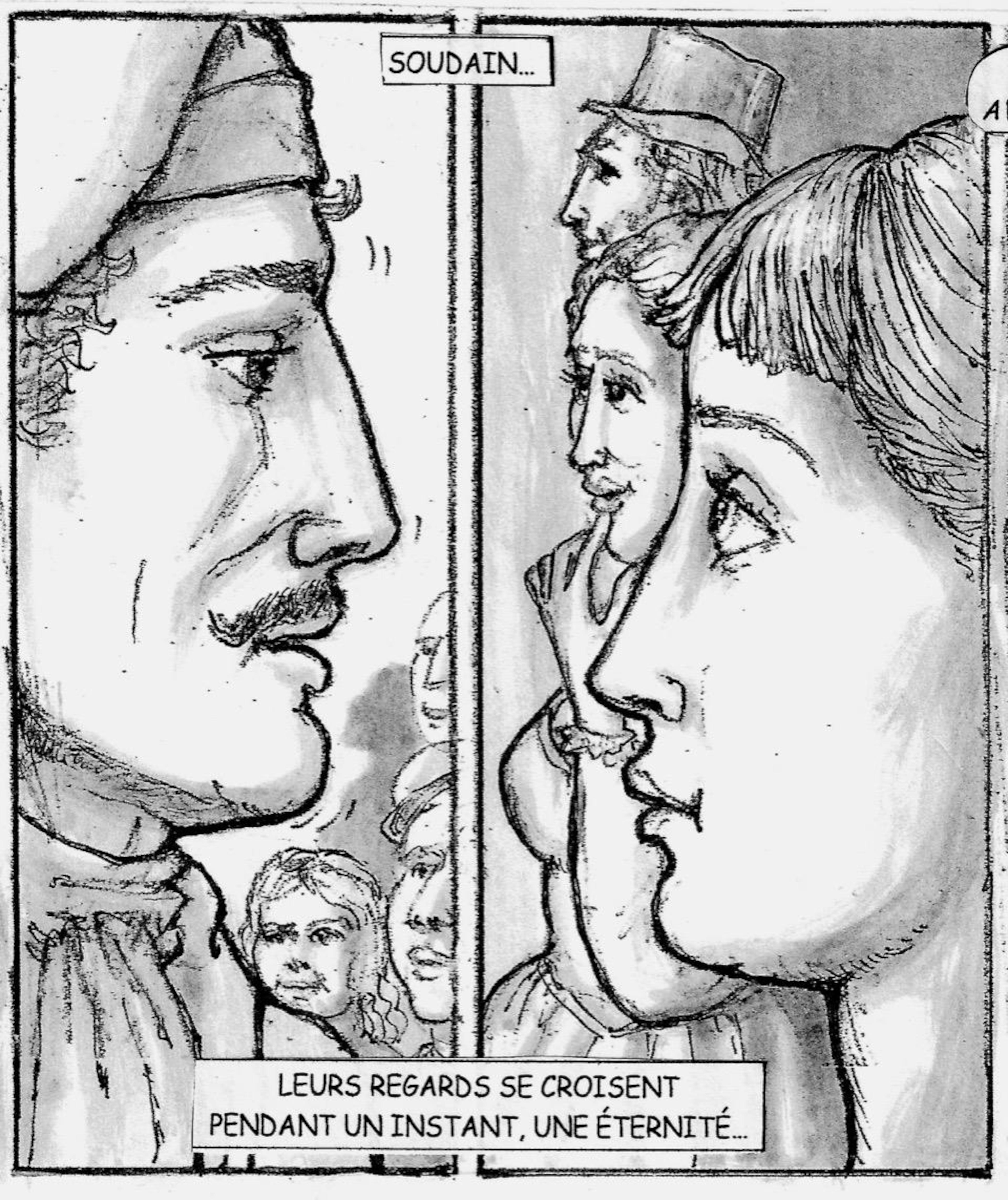 Planches de la prochaine bande dessinée de Robert Freynet.