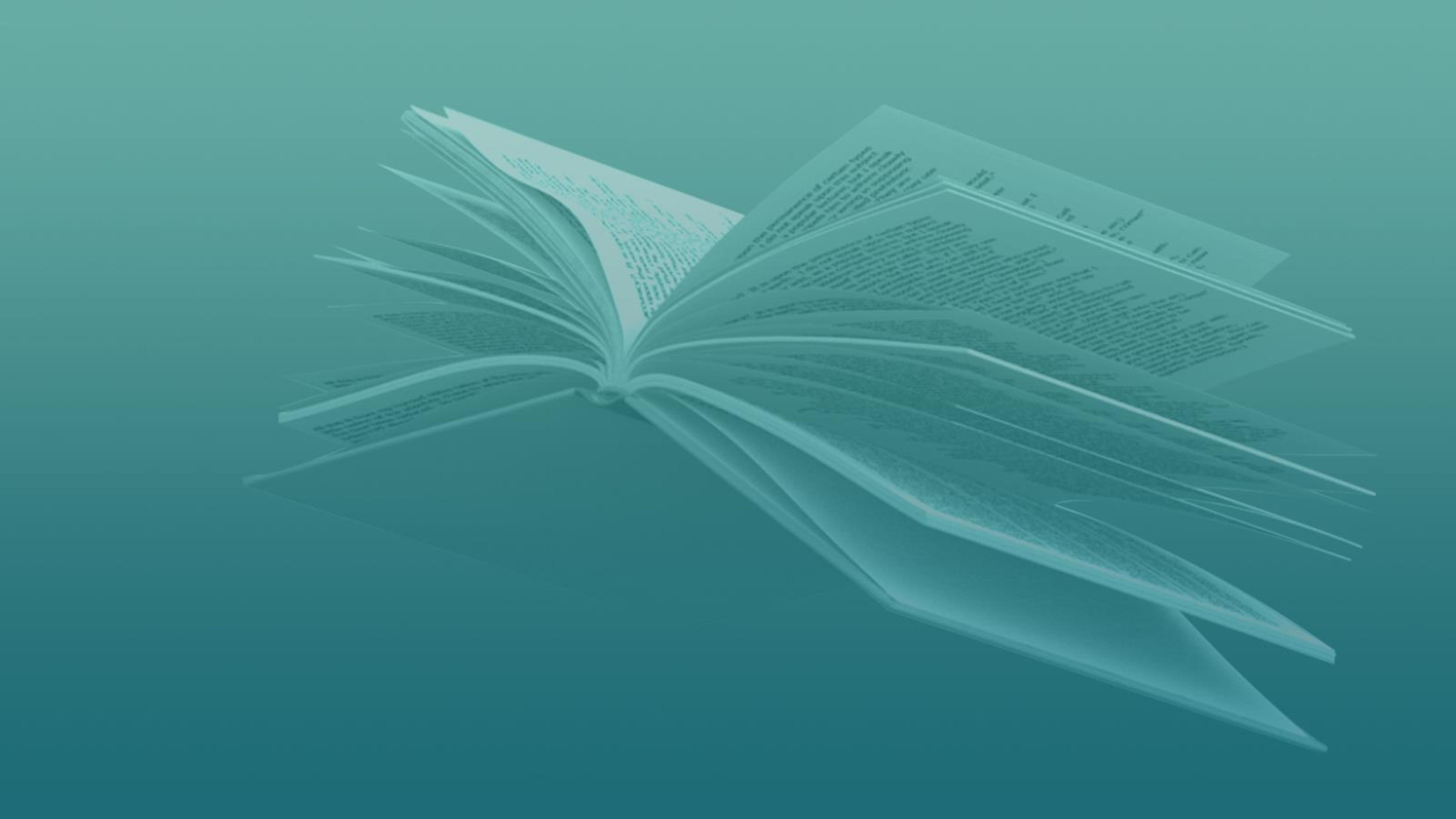 un livre vole, les pages ouvertes, comme un oiseau