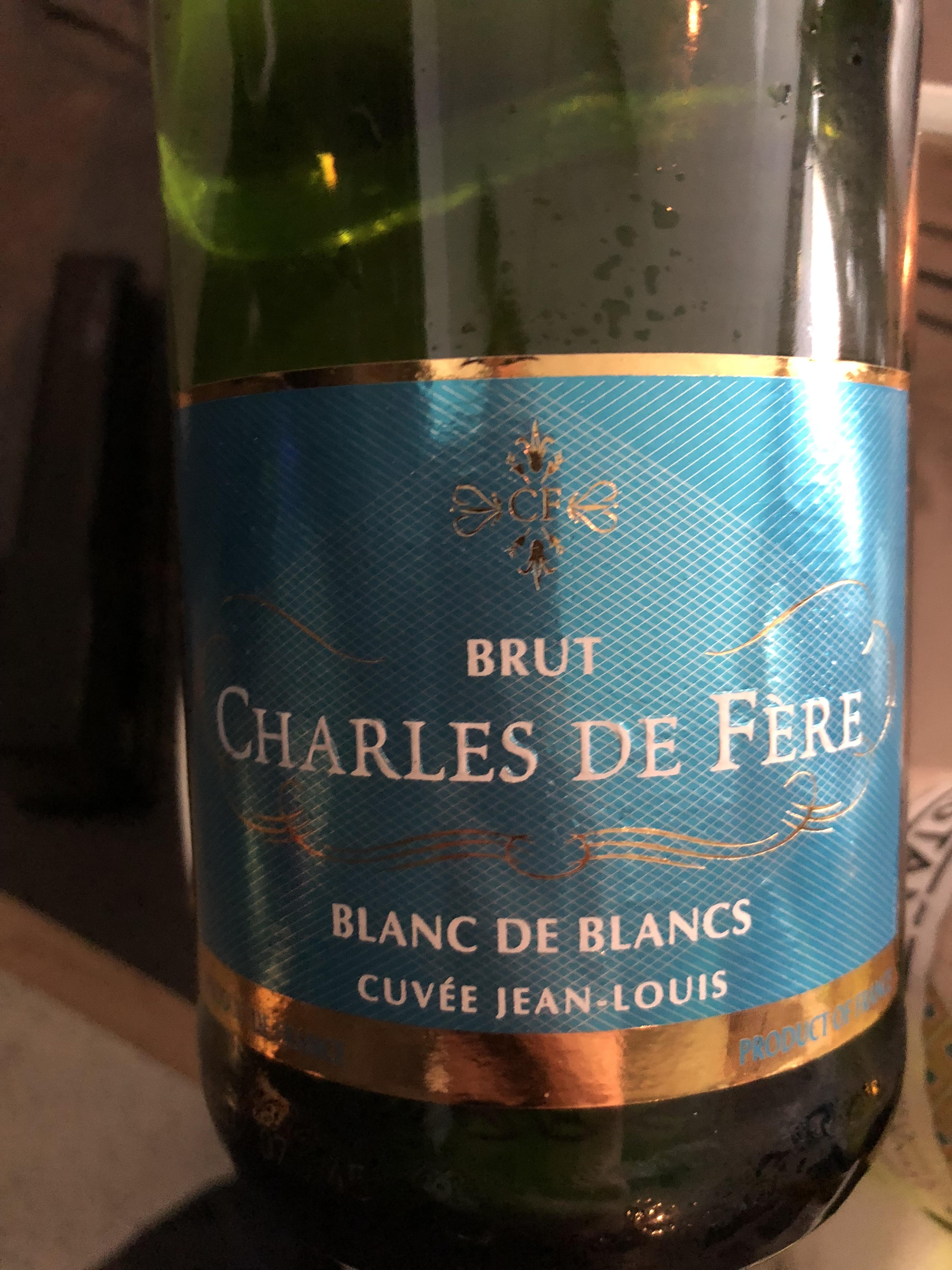 Charles de Fère Blanc de Blancs, Code SAQ :  13396438, 14,95$