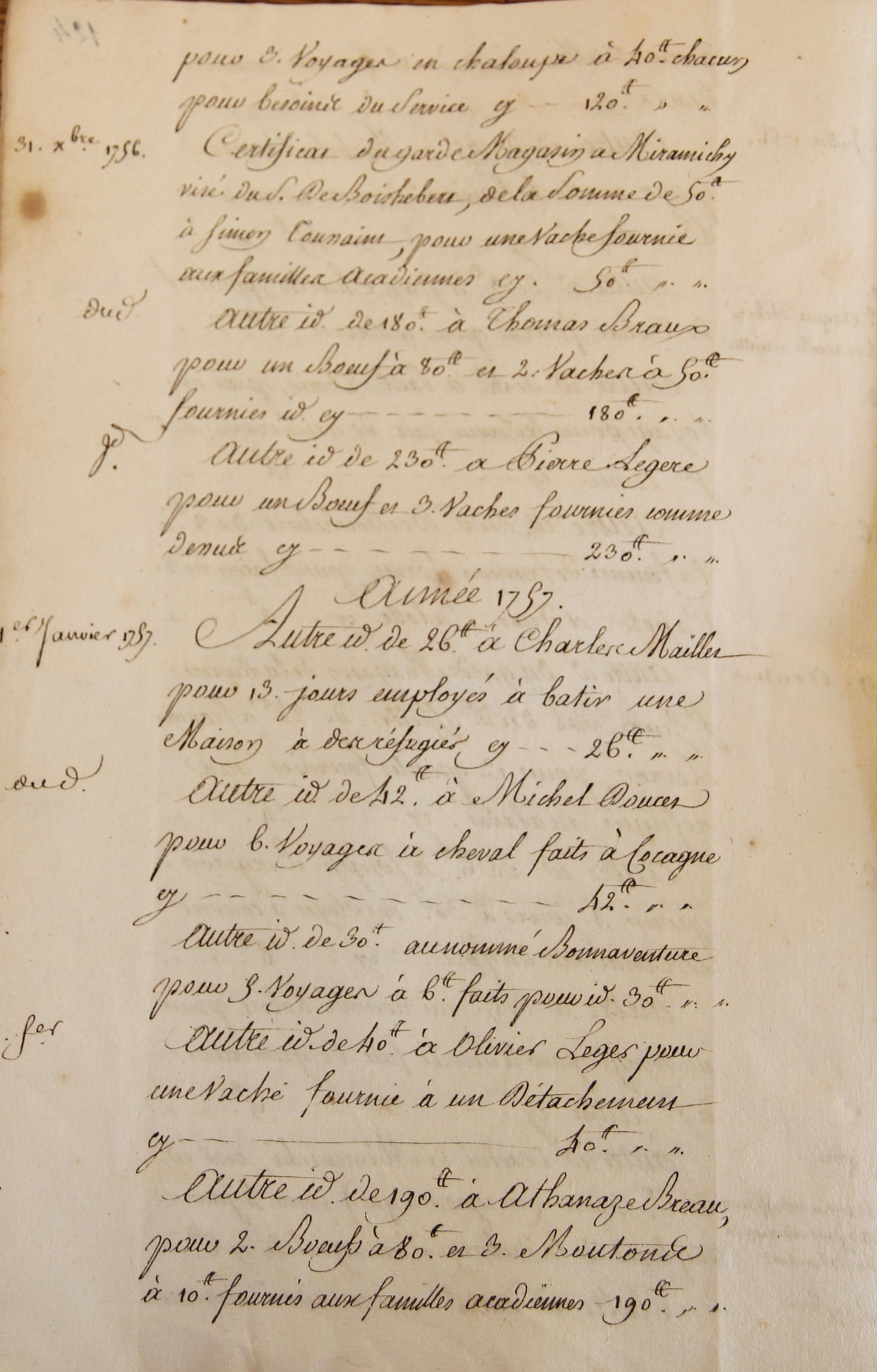 Des documents d'archive