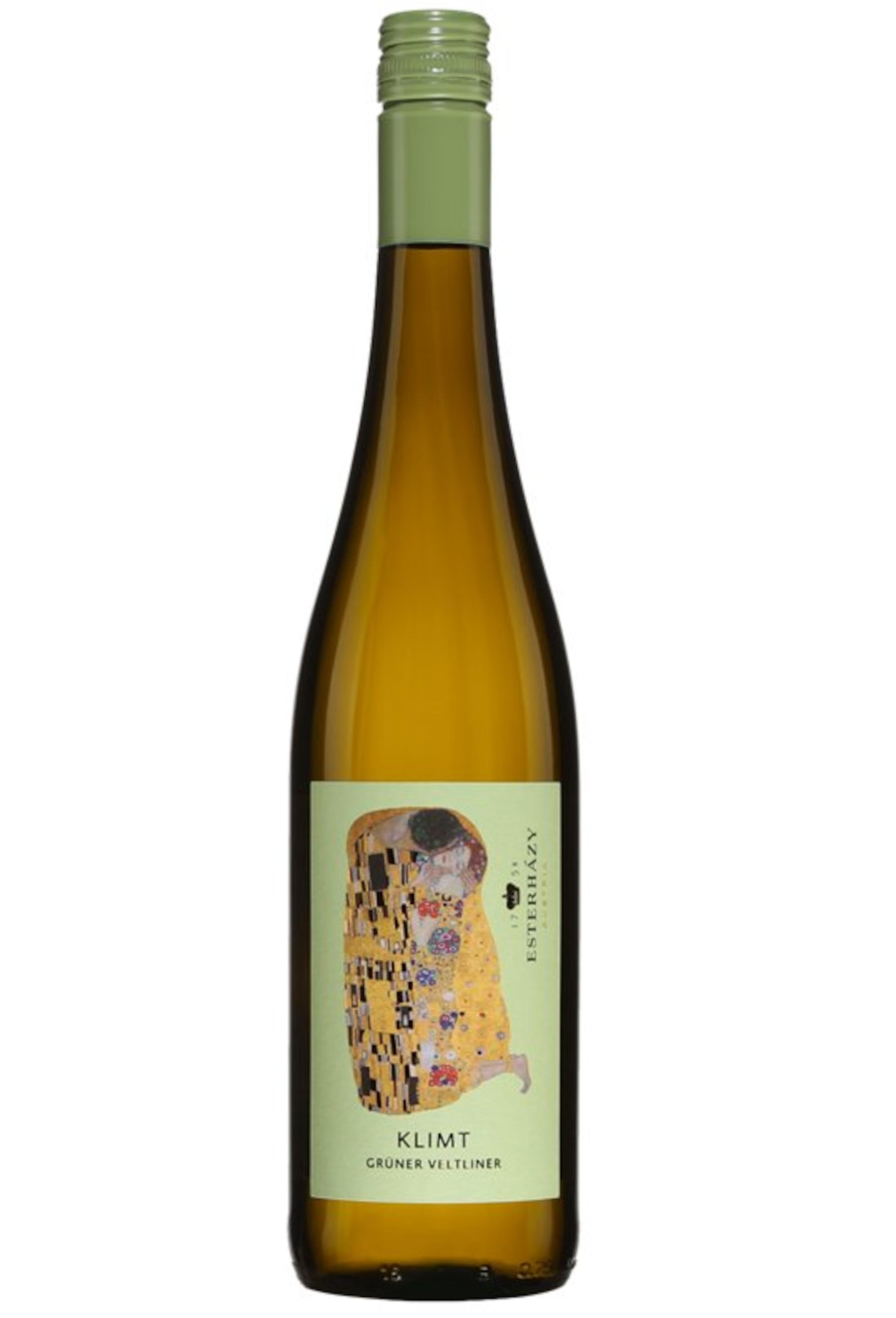 Une bouteille de vin blanc.