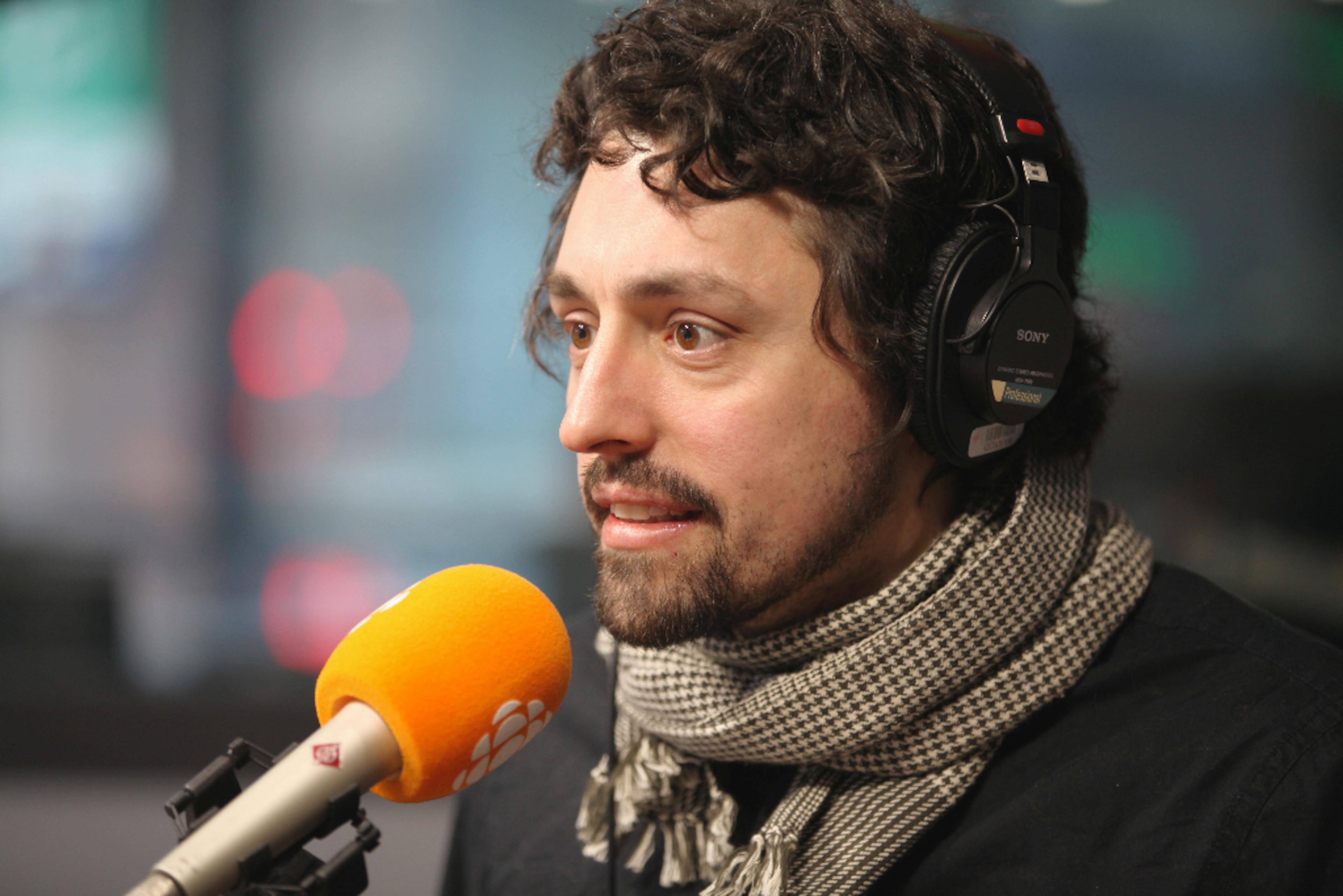 Frédérick Lavoie, en studio