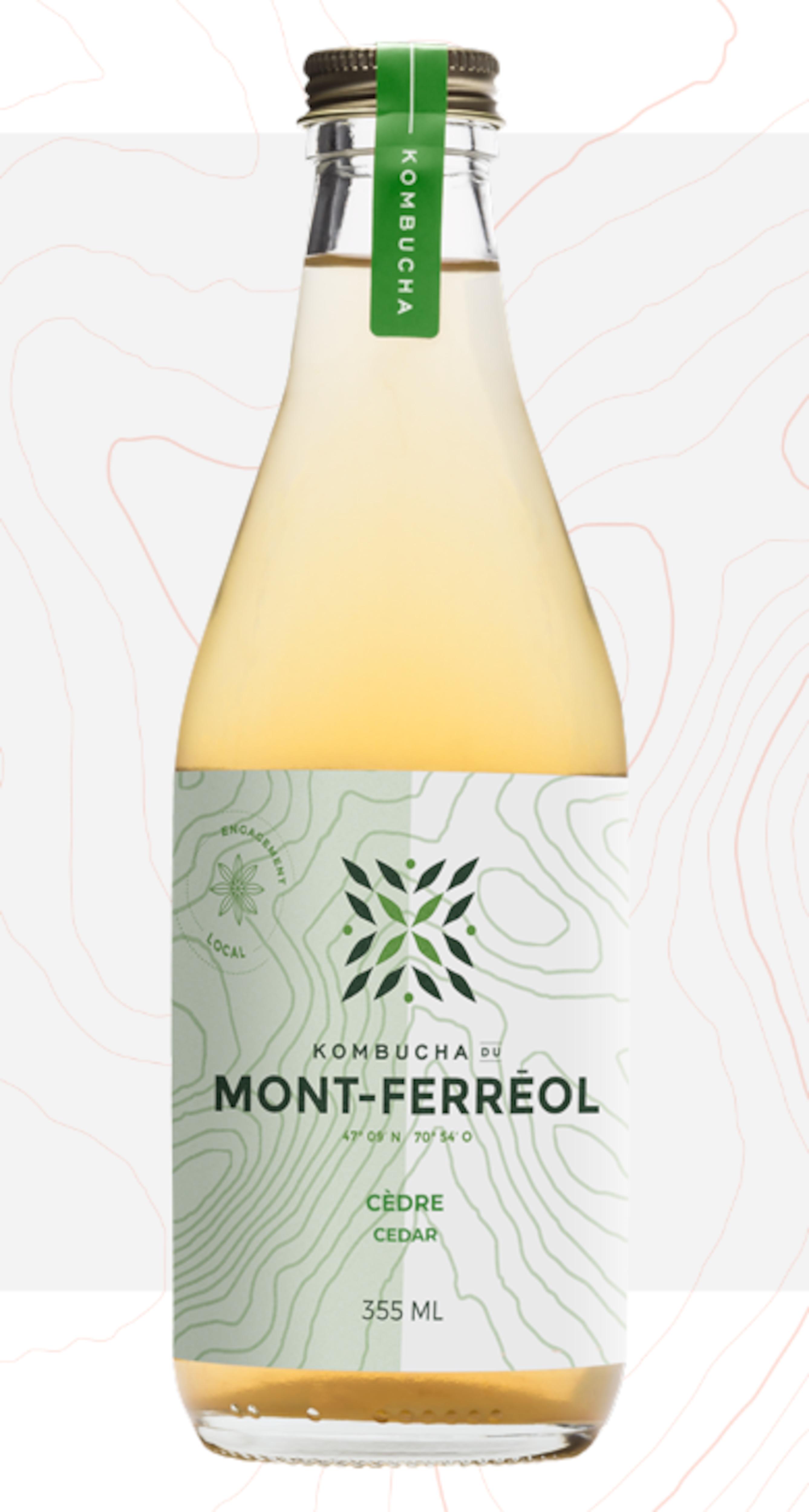 Une bouteille de kombucha.