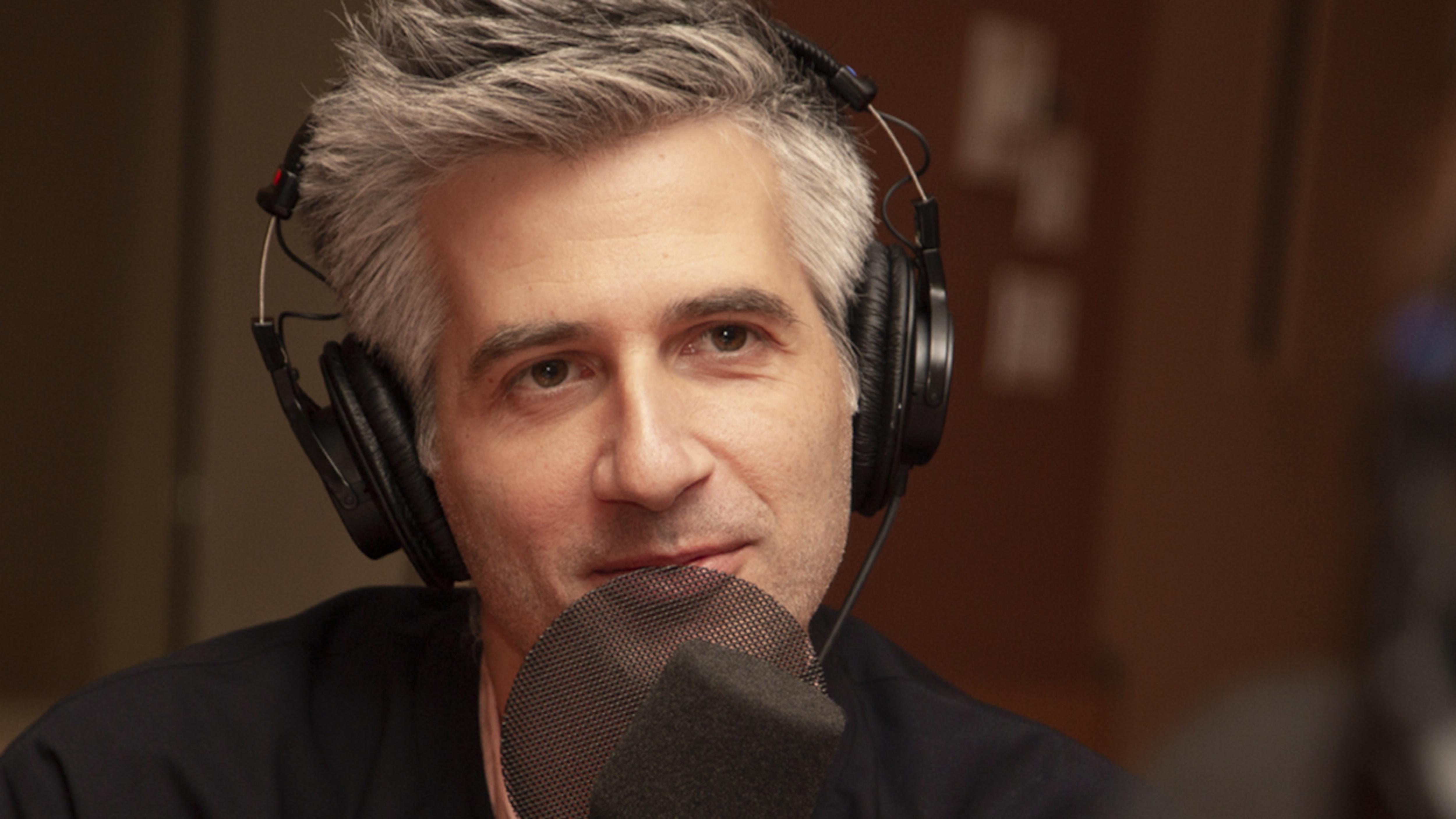 Olivier Niquet en entrevue au studio 18 de Radio-Canada, à Montréal le 24 septembre 2018.