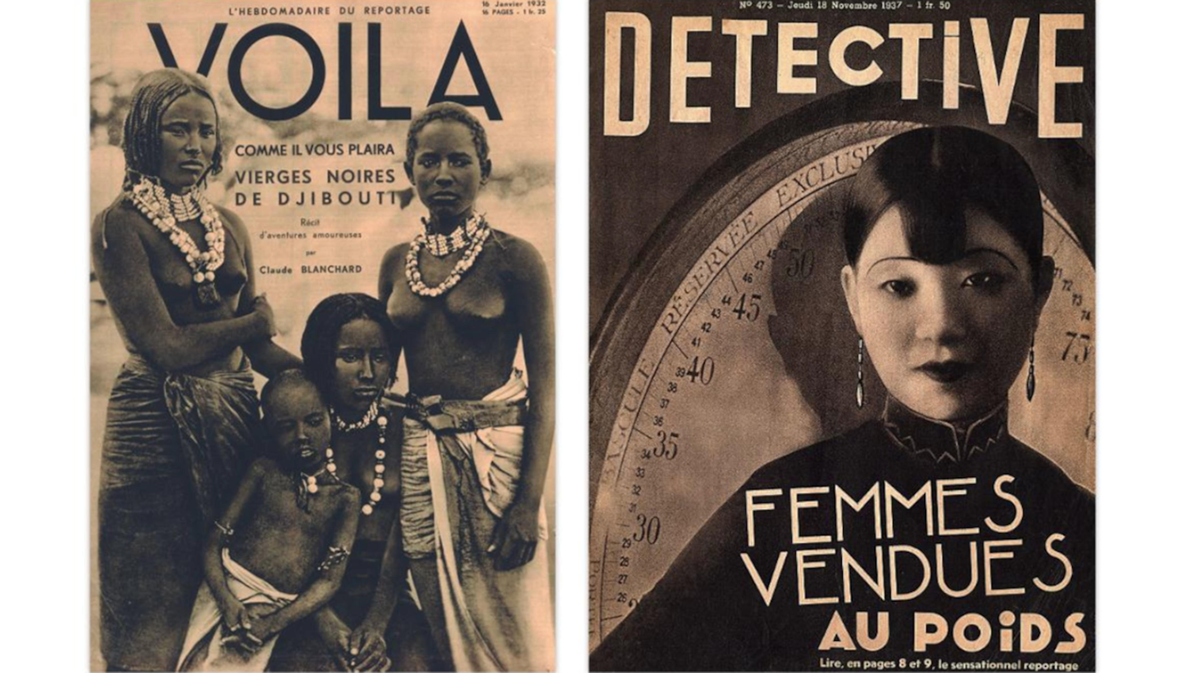 Des couvertures de magazines tirées du livre Sexe, race et colonies