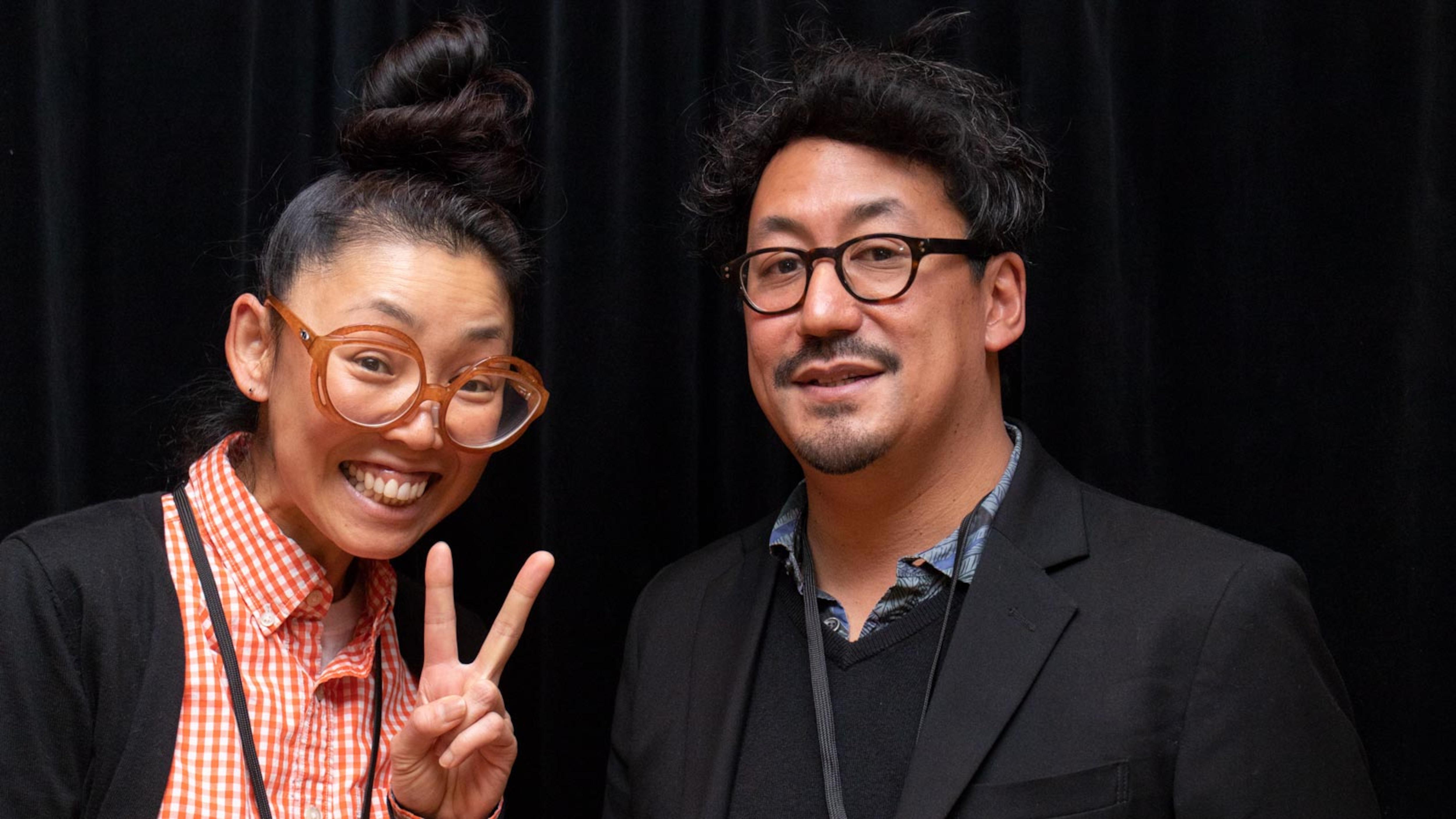 Maya Kuroki (chanteuse) et Jidetaka Yoneyama (guitariste) de la formation Teke Teke,