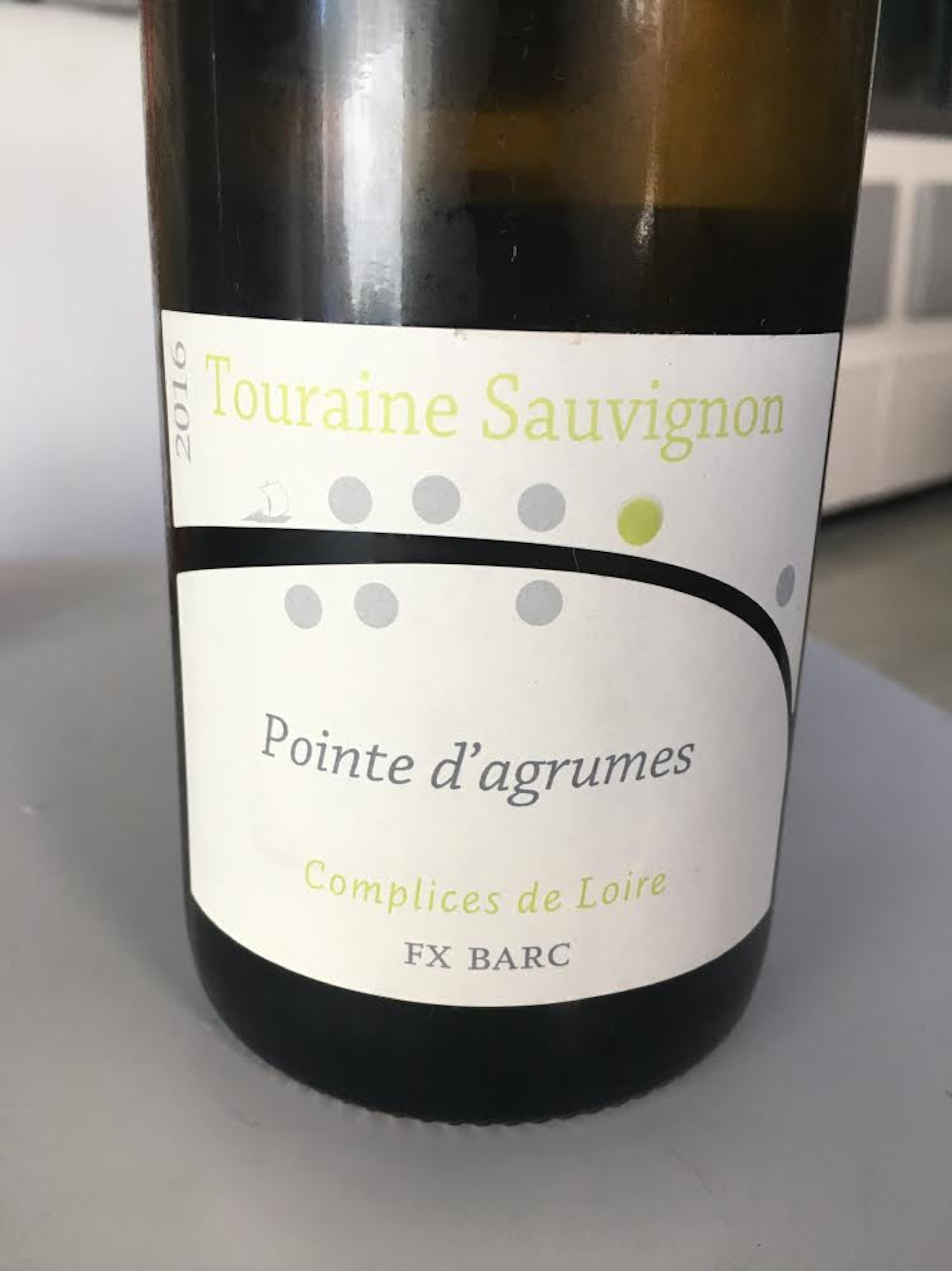 Complices de Loire, Pointe d'agrumes 2016, code SAQ : 12260002, 19,60 $