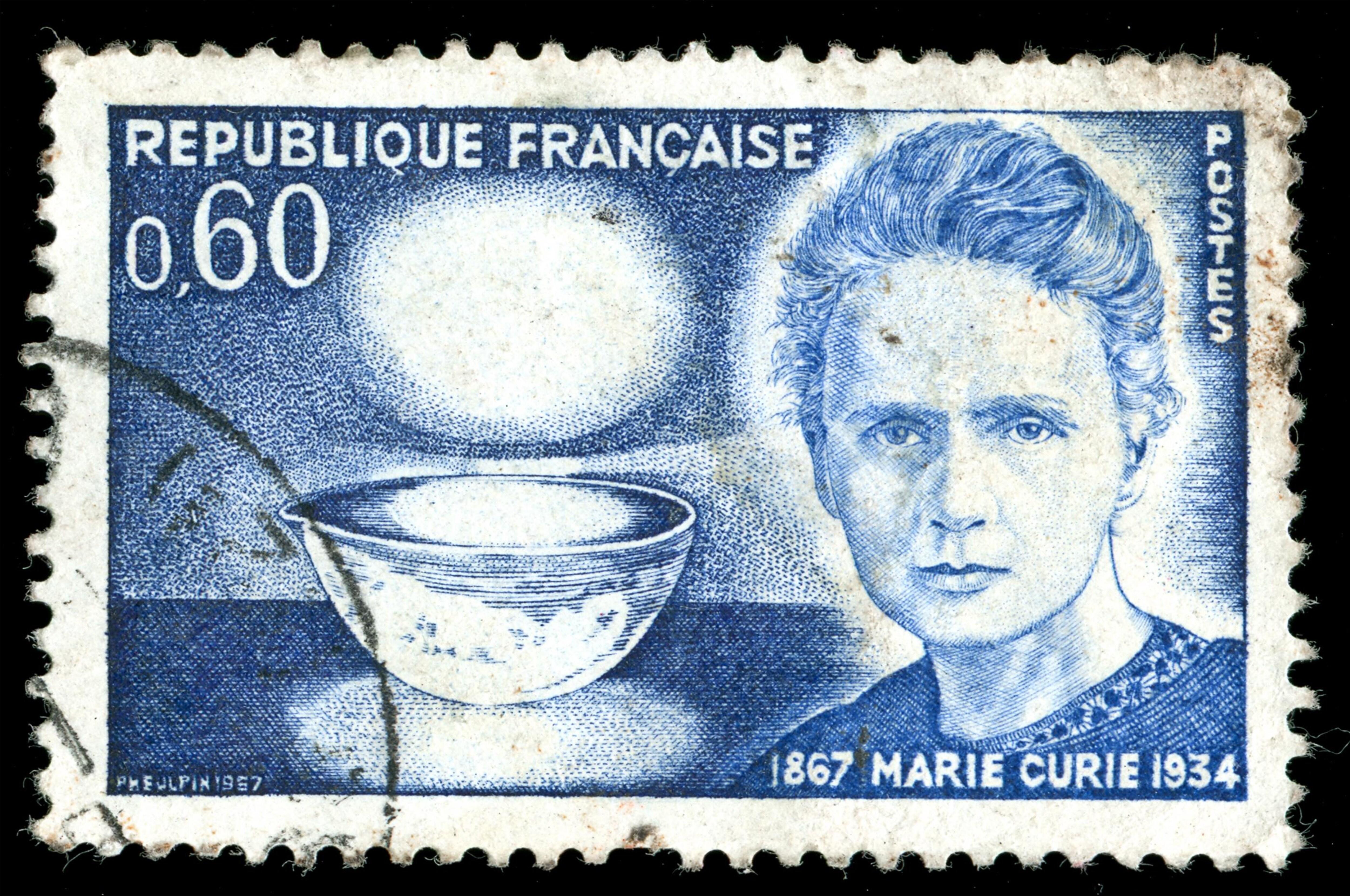 Son visage sur un timbre