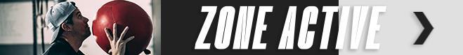Un bandeau annonçant la Zone active de Radio-Canada Sports
