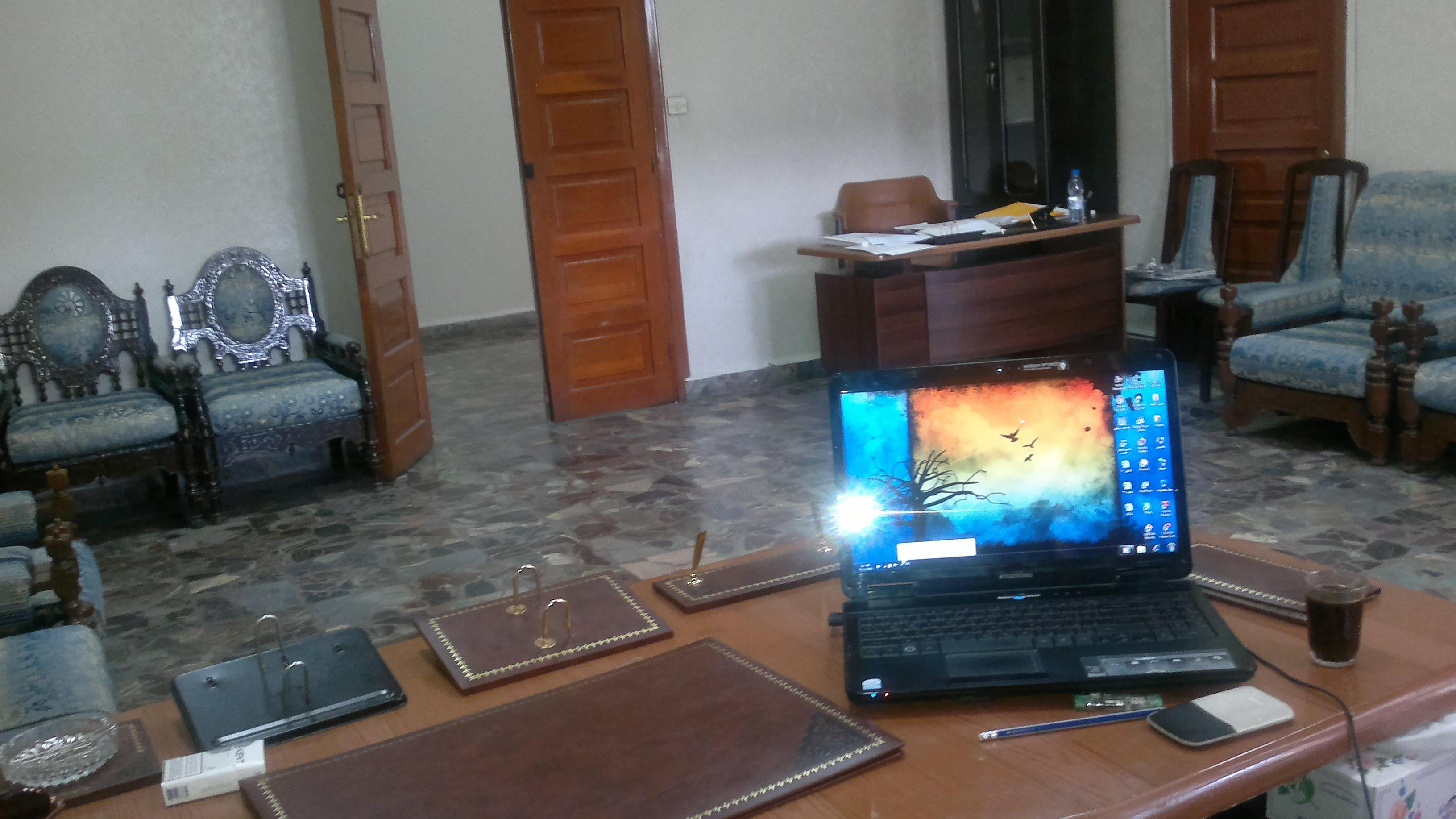 Bureau de Abdelmajeed Barakat à la cellule de gestion de crise de Syrie