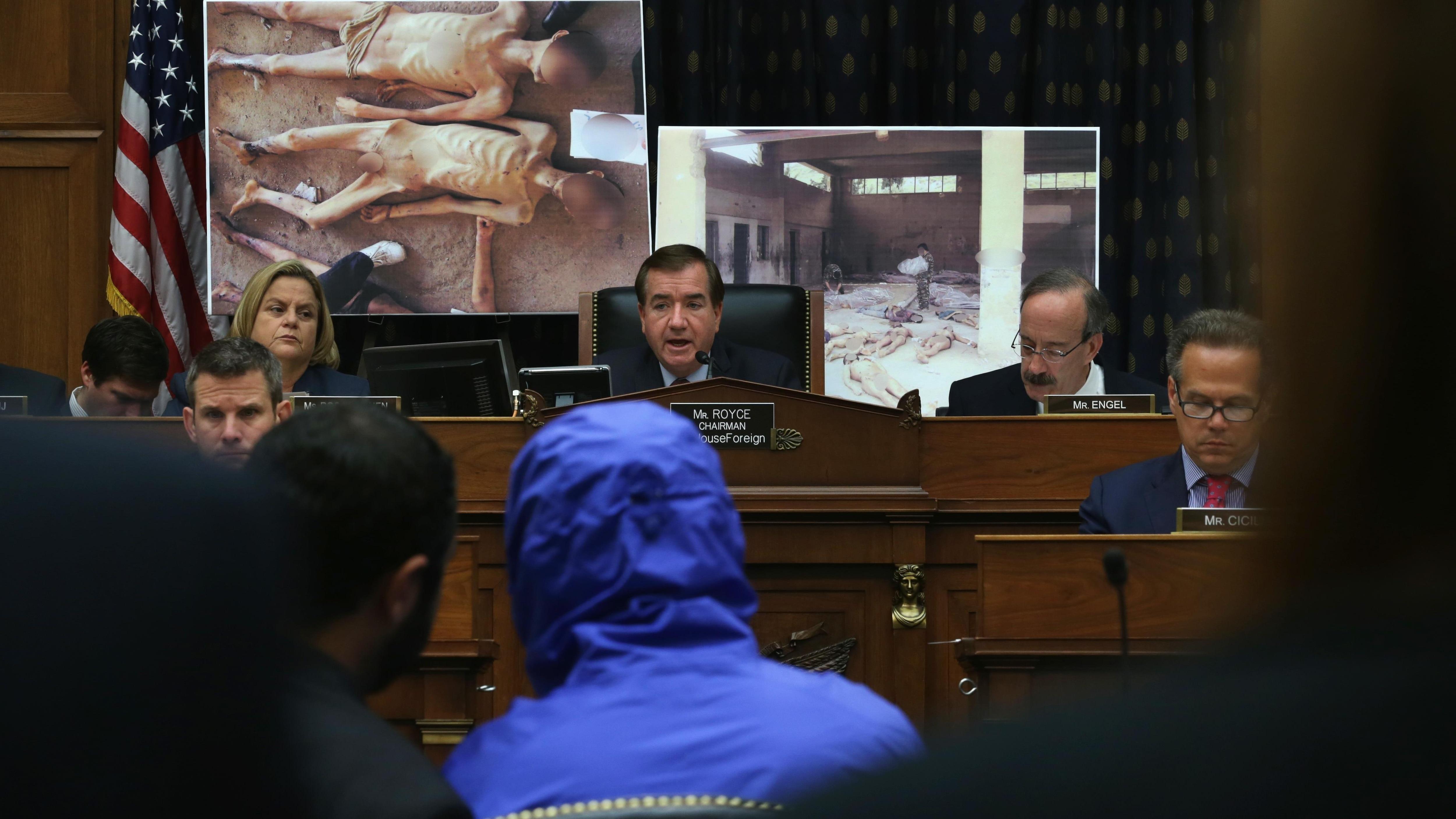 César devant le Congrès américain