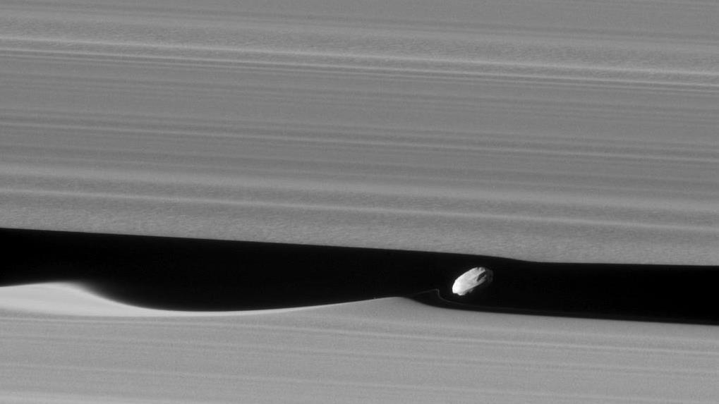 La petite lune Daphnis fait des vagues dans la division de Keeler