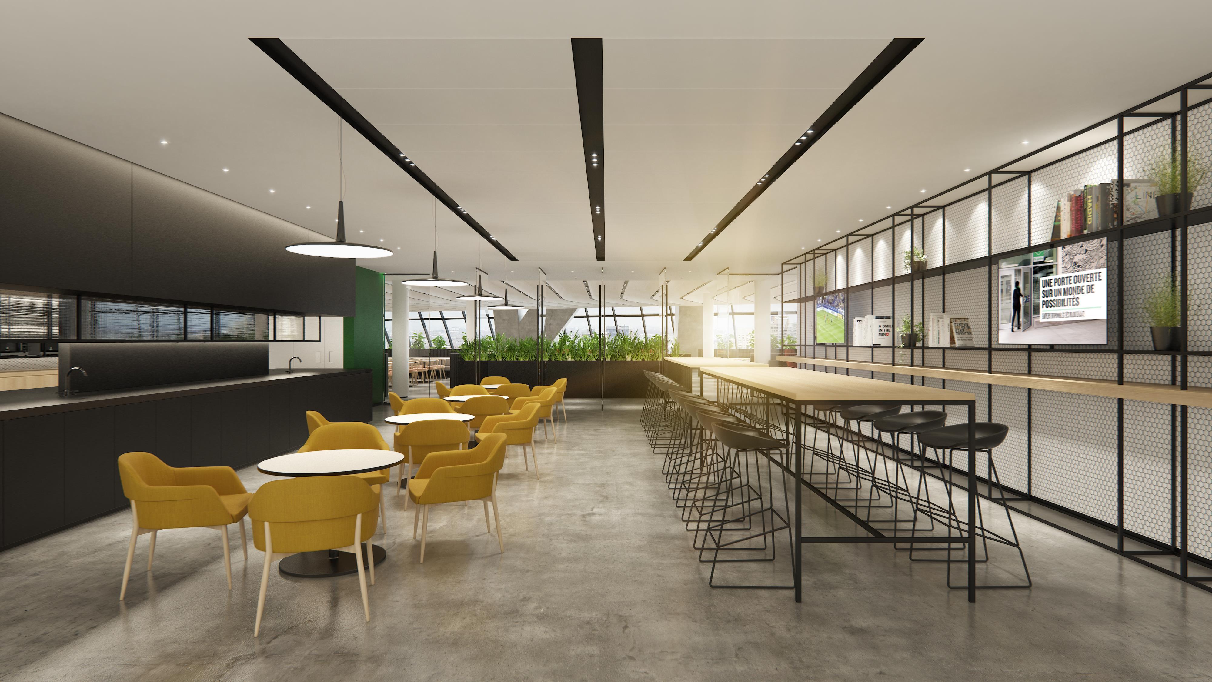 Le « lounge » de la cafétéria.
