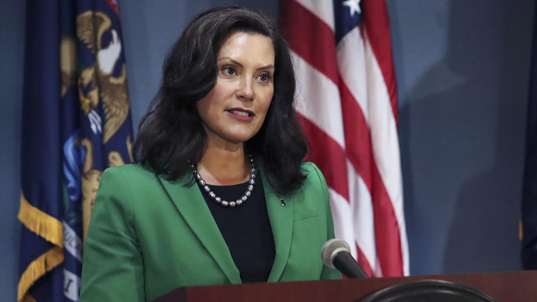 La gobernadora demócrata de Michigan, Gretchen Whitmer.