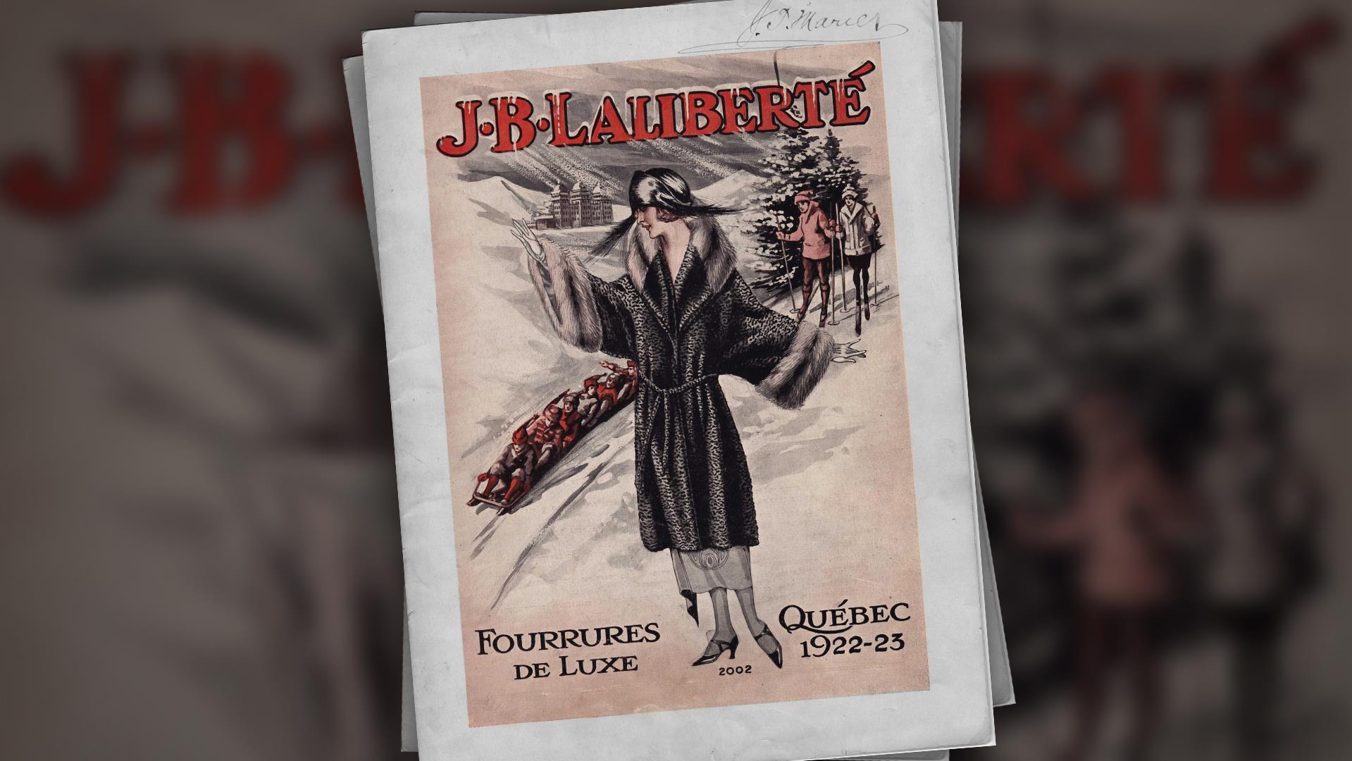 Une couverture de catalogues que Jean-Baptiste Laliberté publiait annuellement et qui était envoyé un peu partout au Canada.