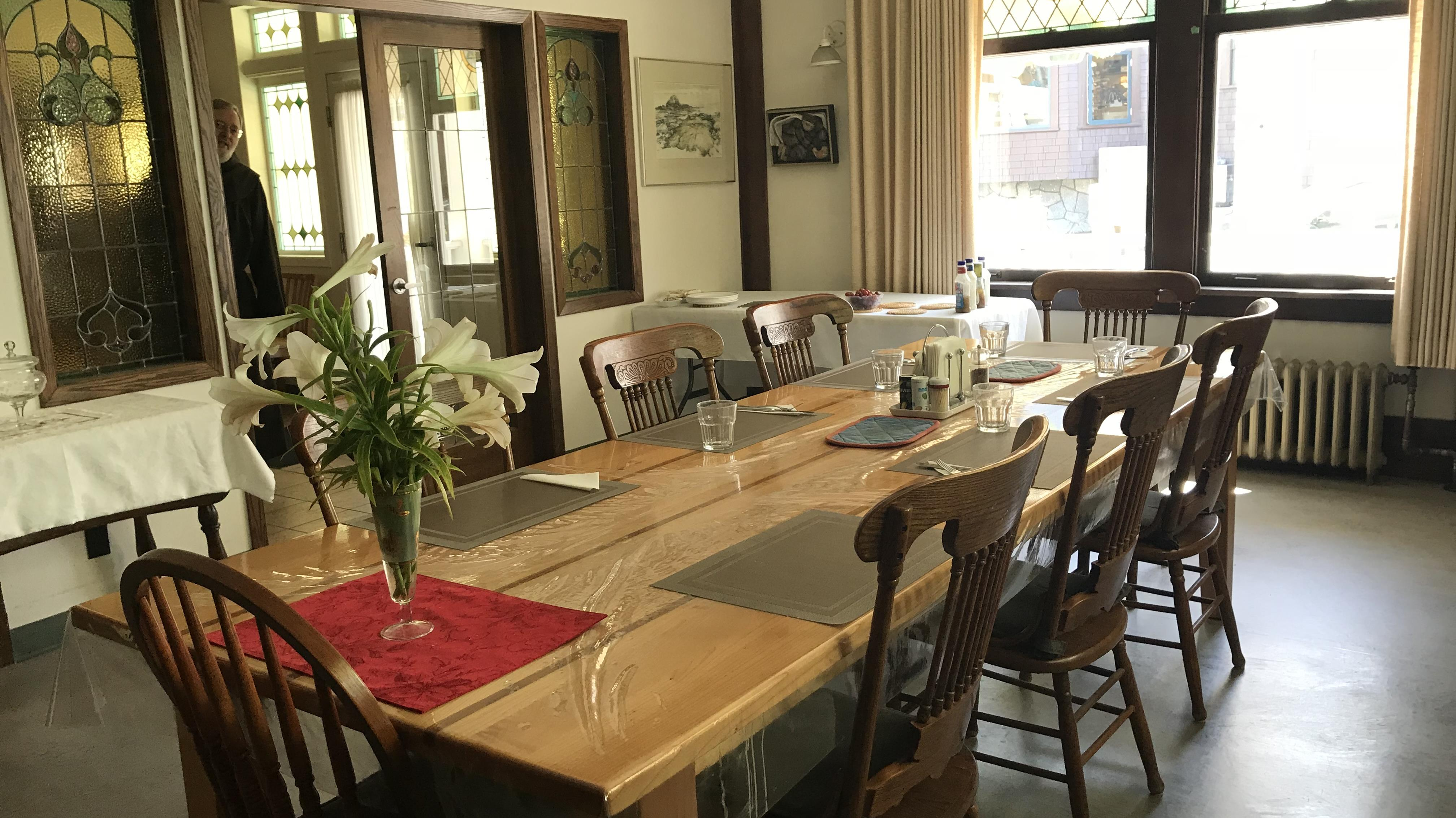 Salle à manger de la Maison des franciscains