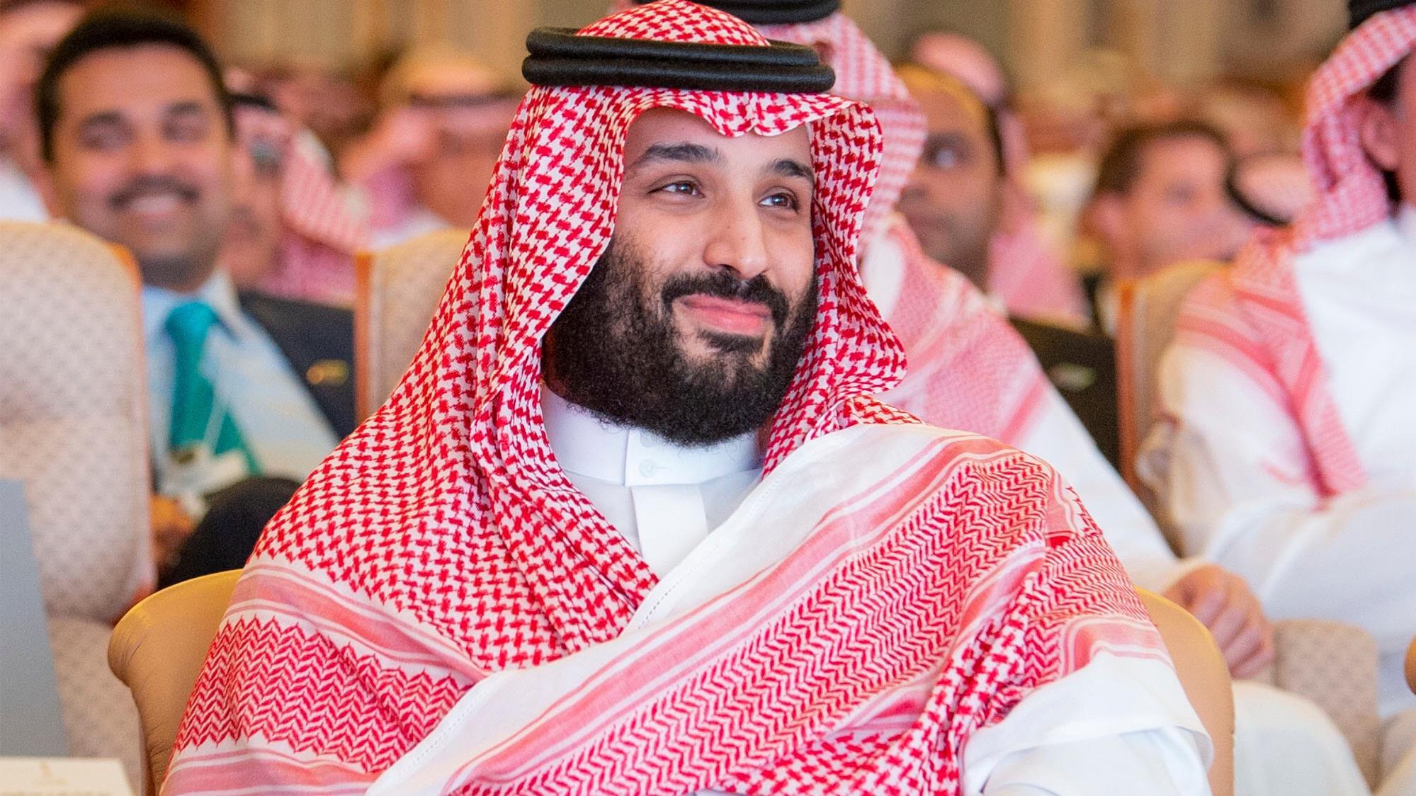 Mohammed ben Salmane participe à une conférence sur les investissements à Riyadh, en Arabie saoudite, le 23 octobre 2018.