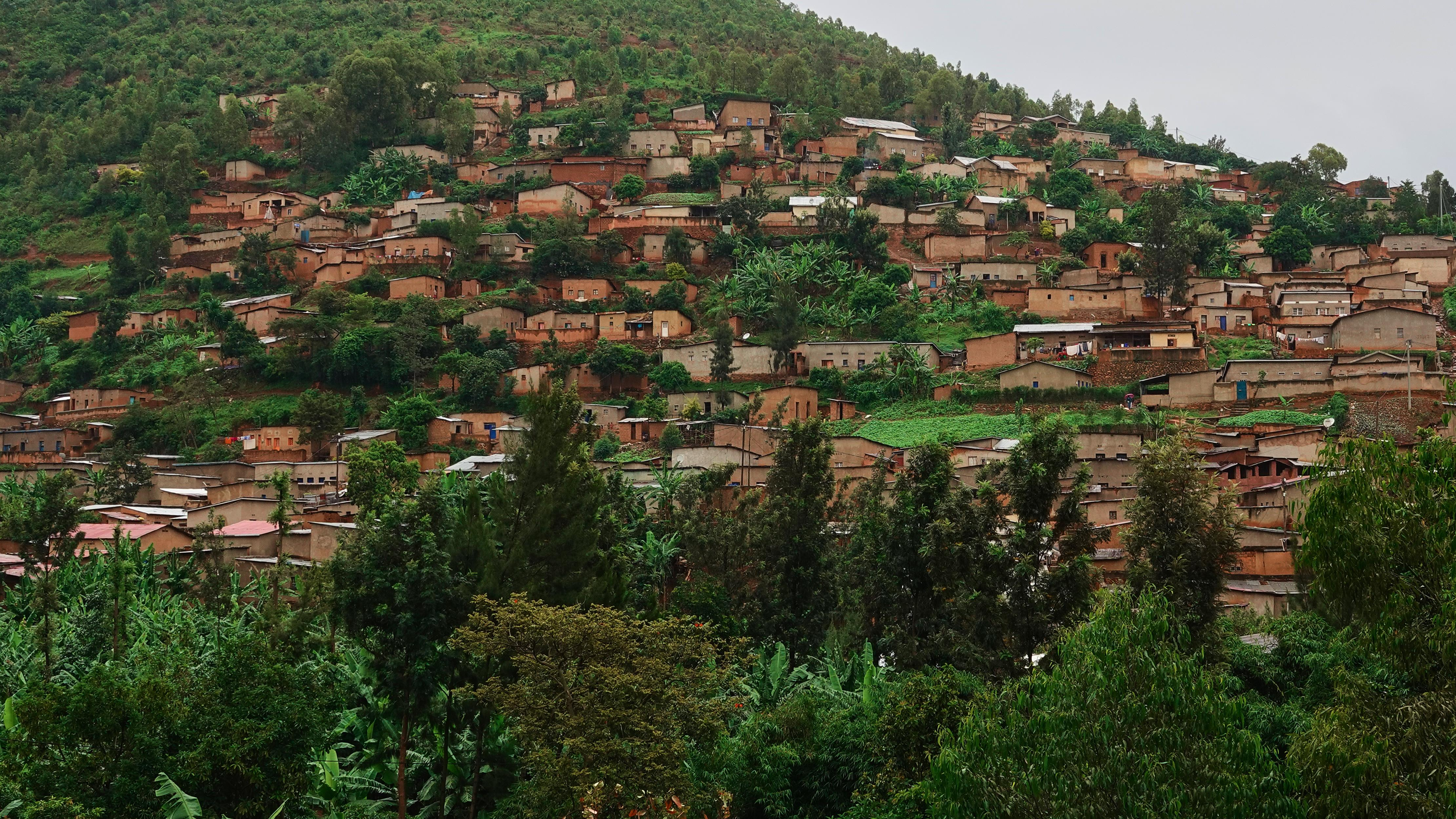 Des maisons sur une colline près de Kigali, au Rwanda
